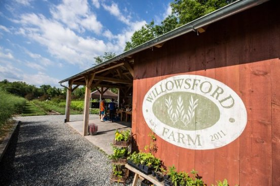 The neighborhood farm stand. (Photo from Willowsford Farm)