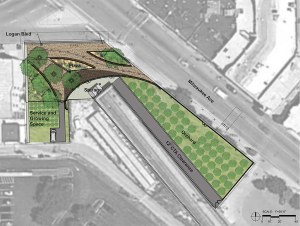 Plans for the Chicago Rarities Orchard Project, CROP. From The Architects Newspaper