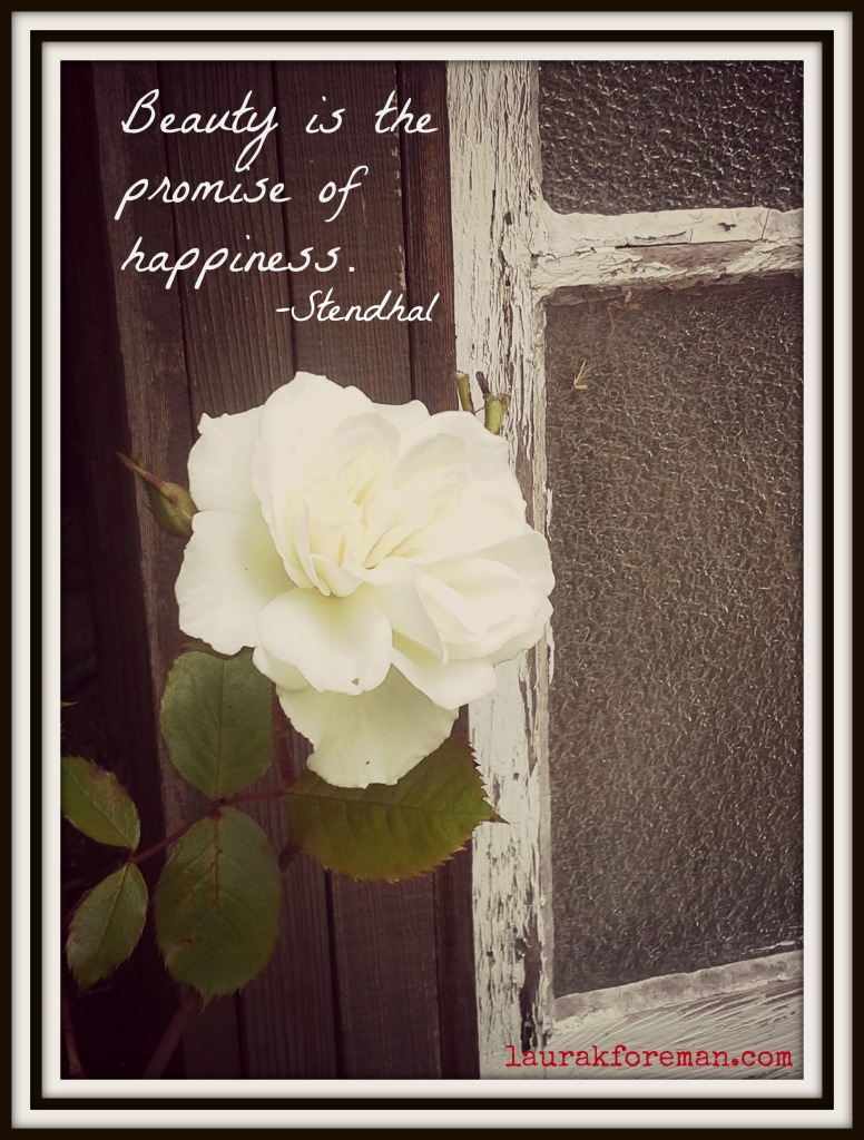 Beauty is the promise of happiness