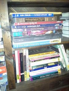 One benefit of college--impressive books.