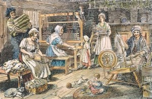 women spinning